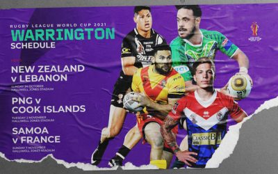 Warrington's RLWC2021 Fixtures Confirmed